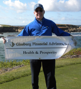 Larry Ginsbury at Cypress Point Golf Course in Pebble Beach, California